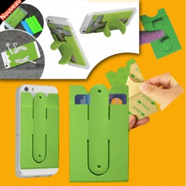 Cellphone holder silicon single card holder color vert
