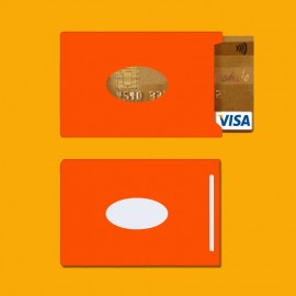 Protège-carte RFID Couleur Orange