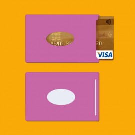 RFID shielded single card holder color pink