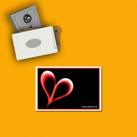 RFID shielded single card holder image heart
